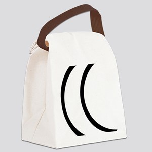 moon_outline Canvas Lunch Bag