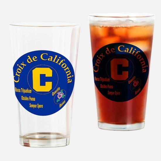 Croix de California Drinking Glass