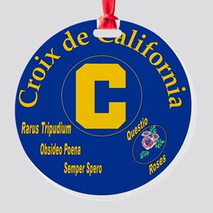 Croix de California Round Ornament