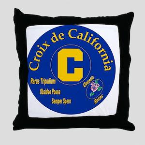 Croix de California Throw Pillow