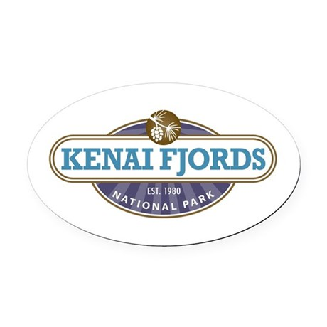 Kenai Fjords National Park Oval Car Magnet