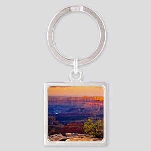 Grand Canyon Sunset Square Keychain