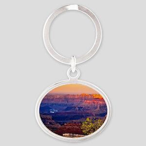 Grand Canyon Sunset Oval Keychain