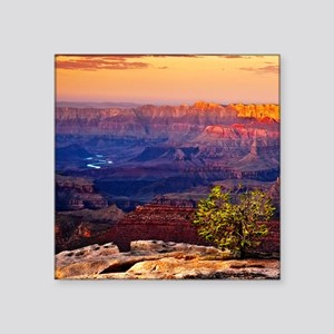 "Grand Canyon Sunset Square Sticker 3"" x 3"""