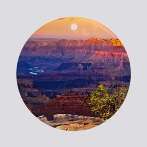 Grand Canyon Sunset Round Ornament