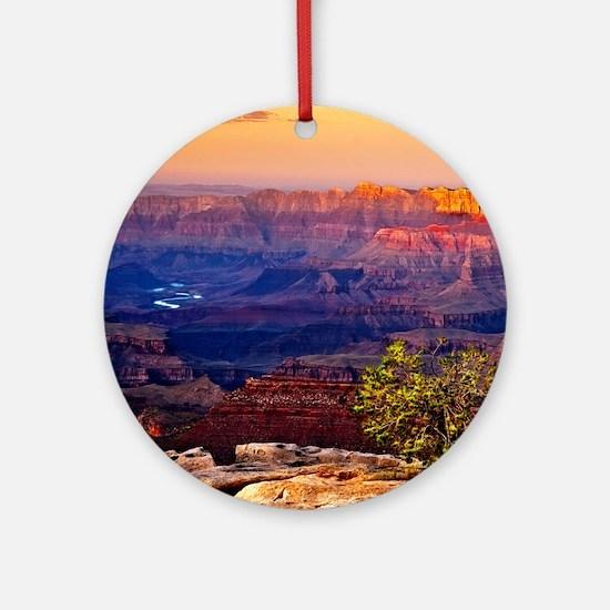Grand Canyon Sunset Round Ornament