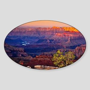 Grand Canyon Sunset Sticker (oval)