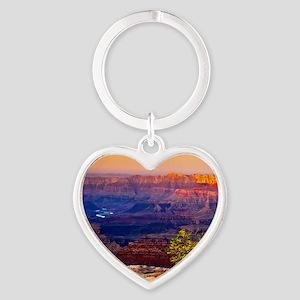 Grand Canyon Sunset Heart Keychain