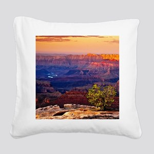 Grand Canyon Sunset Square Canvas Pillow