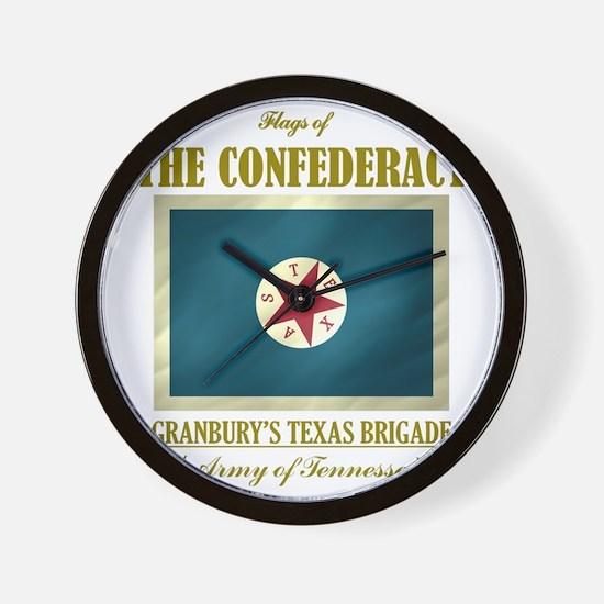 Granburys Texas Brigade (Flag 3) Wall Clock