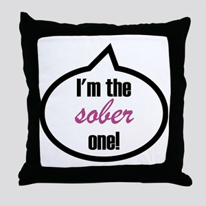 Im_the_sober Throw Pillow