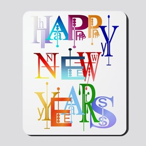 Happy New Years Trans Mousepad