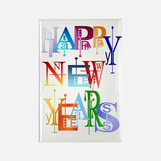 Happy New Years Trans Rectangle Magnet