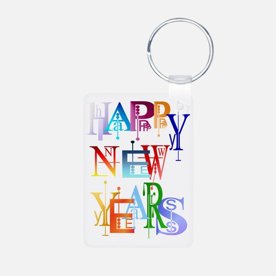 Happy New Years Trans Keychains