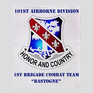 101 AB DIV-1BDE CT WITH TEXT Throw Blanket