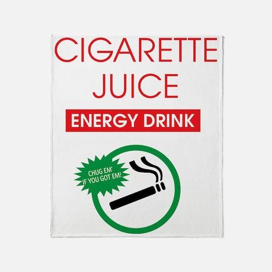 Cigarette Juice Throw Blanket