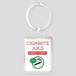 Cigarette Juice Dark Portrait Keychain