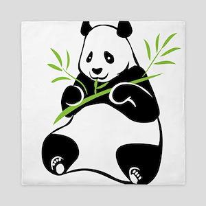 Panda with Bamboo Queen Duvet