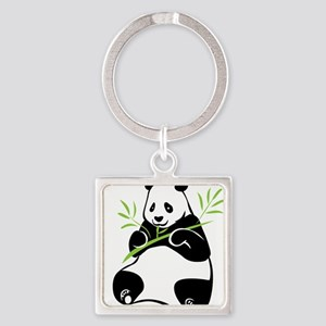 Panda with Bamboo Keychains