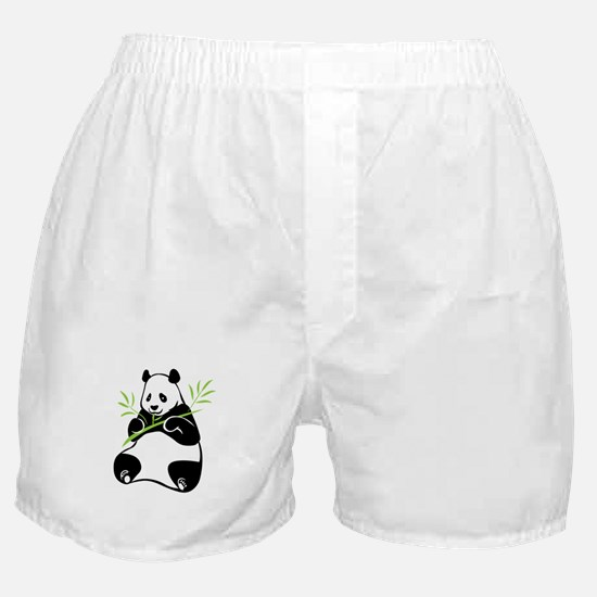 Panda with Bamboo Boxer Shorts
