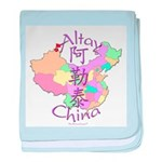Altay China Map baby blanket