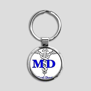 MD4 Round Keychain