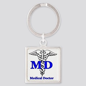 MD4 Square Keychain