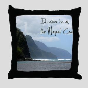 CalendarNapaliCoast Throw Pillow