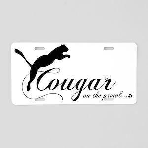 cougarsticker Aluminum License Plate