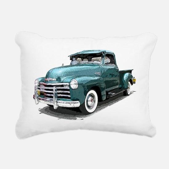 GreenPickUpDrawn Rectangular Canvas Pillow
