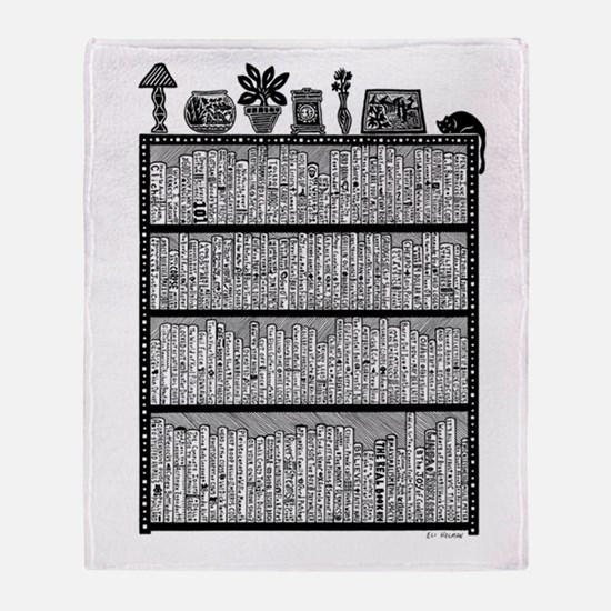 Bookshelf2 Throw Blanket