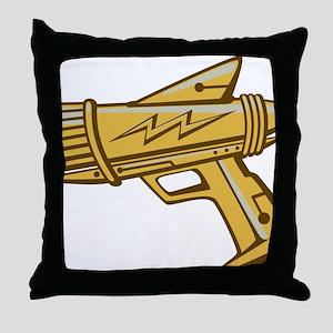 ray_gun_gold Throw Pillow