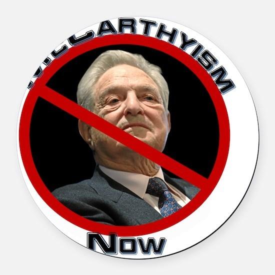 McCarthyism1 Round Car Magnet