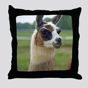 llama2_panel Throw Pillow