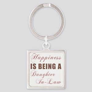 Happiness_DaughterInLaw Square Keychain