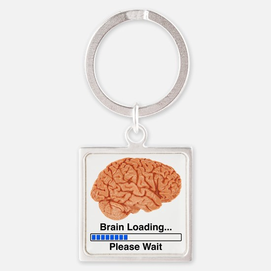 Brain Loading a Square Keychain