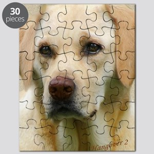 Yellow Lab Faithful Friend Small Poster Puzzle