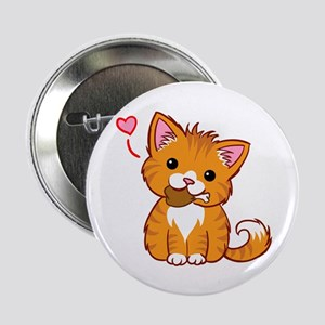 Orange Kitty Love 2.25&Quot; Button