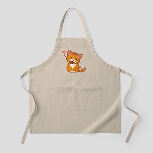 Orange Kitty Love Apron