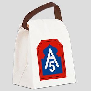 5th Army Canvas Lunch Bag