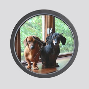 dasie and harley window seat Wall Clock