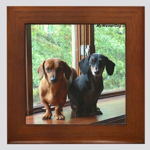 dasie and harley window seat Framed Tile