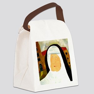 pearlearringdetailcp Canvas Lunch Bag