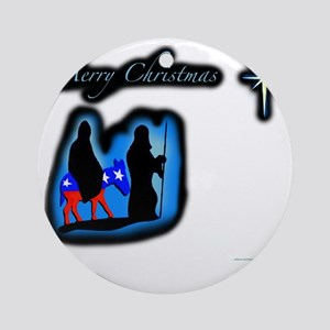 mary merry chrstmas Round Ornament