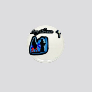 mary merry chrstmas Mini Button