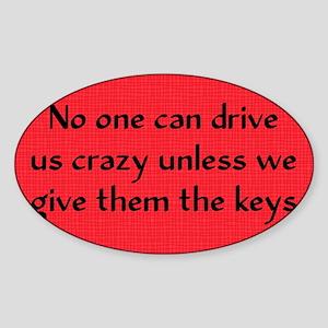 driveuscrazy_rect2 Sticker (Oval)