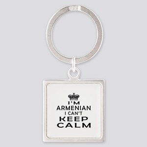 I Am Armenian I Can Not Keep Calm Square Keychain