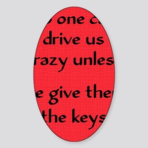 driveuscrazy_ipad Sticker (Oval)