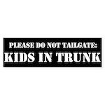Kids In Trunk Bumper Sticker