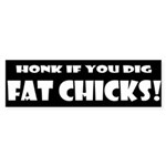 Fat Chicks Bumper Sticker